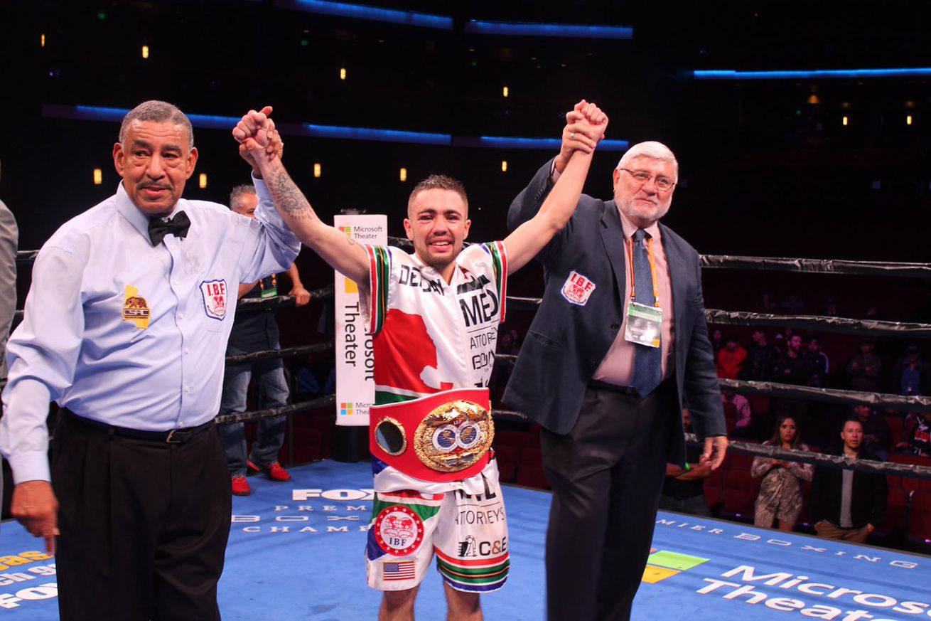 DzpkCQ4V4AArPcT.0 - Kriel vacates IBF title, moving up in weight
