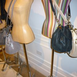 Madison Marielle Drawstring Pouches in Dusted Shimmer, $398
