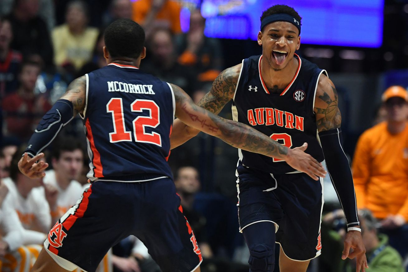 usa today 12367176.0 - Bracketology 2019: UNC jumps to the top line after Auburn thrashes Tennessee in SEC final