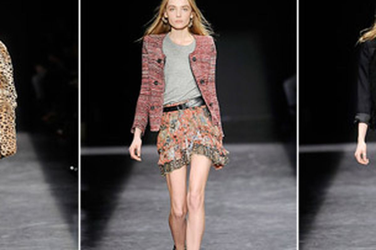 """Images from Isabel Marant's fall '09 show via <a href=""""http://www.style.com/fashionshows/review/F2009RTW-IMARANT"""">Style.com</a>"""