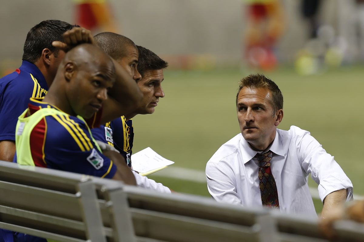 For Real Salt Lake head coach Jason Kreis their is a whole lot on the plate for the team, but next up are the Vancouver Whitecaps. (Photo by George Frey/Getty Images)