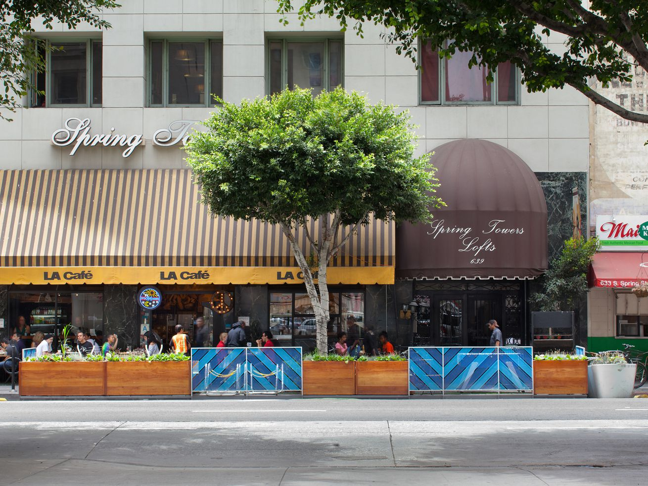 A parklet on Spring Street was constructed through the People St program in 2013.