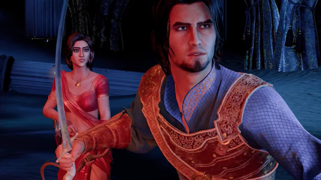 Main characters face a deadly enemy in Prince of Persia: The Sands of Time remake