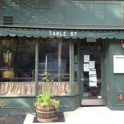"""Table 87 at 87 Atlantic Ave in Brooklyn Heights via <a href=""""http://www.brownstoner.com/blog/2012/08/restaurant-to-open-at-87-atlantic-avenue/"""">Brownstoner</a>."""
