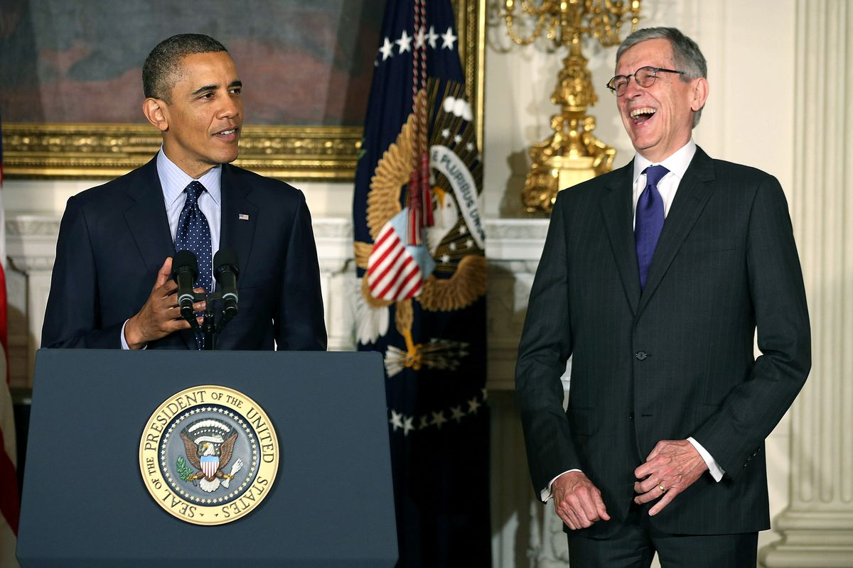 President Obama and FCC Chairman Tom Wheeler in happier times.
