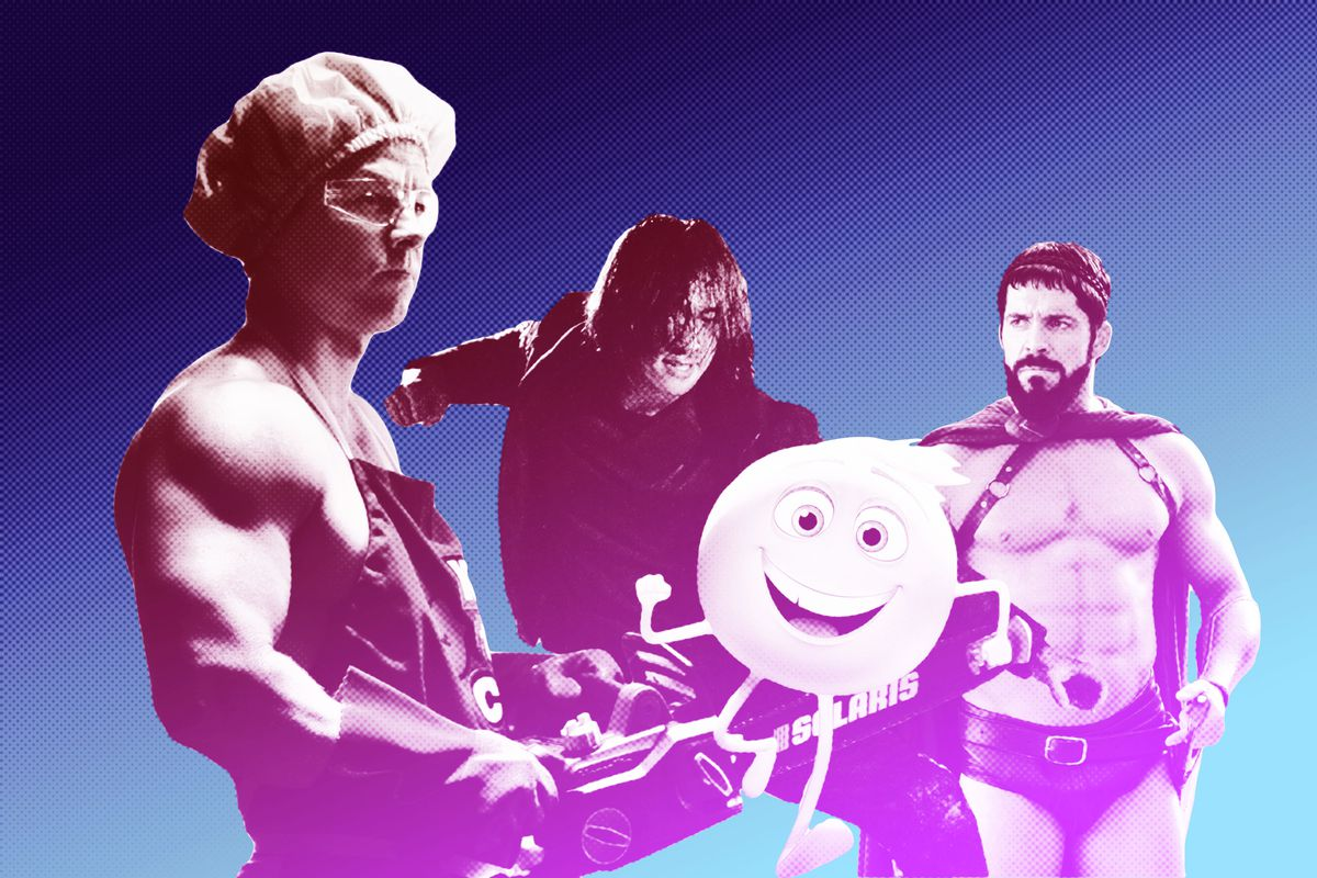 Stills from 'White House Down,' 'Ninja Assassin,' 'The Emoji Movie,' and 'Meet the Spartans'