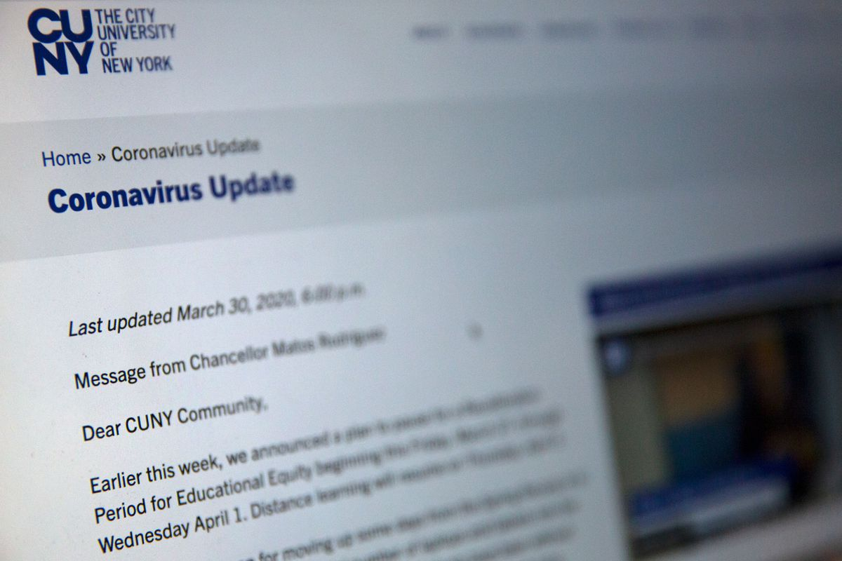 The City University of New York provide information on distance learning during the coronavirus outbreak.