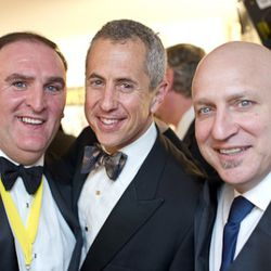 Jose Andres at left, with Danny Meyer and Tom Colicchio at right.<br /><br />photo copyright Daniel Krieger Photography LLC