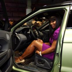 NEW YORK, NY - APRIL 19:  Professional tennis player Serena Williams was on hand at the NYC launch of the 2012 Range Rover Evoque at Highline Stages on April 19, 2011 in New York City.  (Photo by Neilson Barnard/Getty Images for Range Rover)
