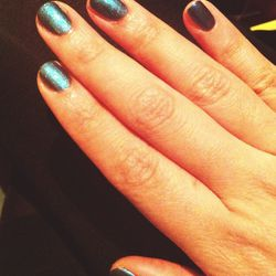 <b>Revlon</b> is hosting a screening of <i>The Amazing Spiderman 2</i>. They have manicures during the screening and I choose this holographic blue called 'I'm Electro.'