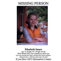 flyer of  missing Salt Lake girl  Elizabeth Smart. (Submission date: 06/05/2002)