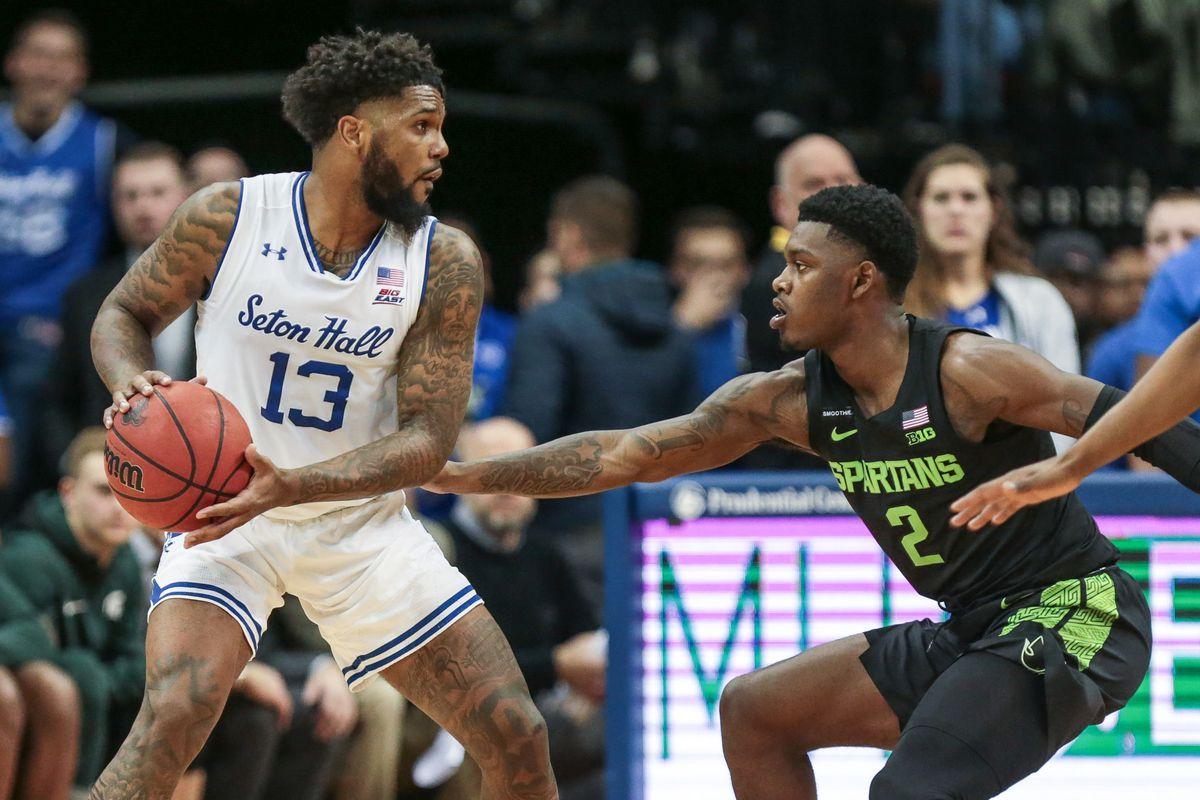NCAA Basketball: Michigan State at Seton Hall