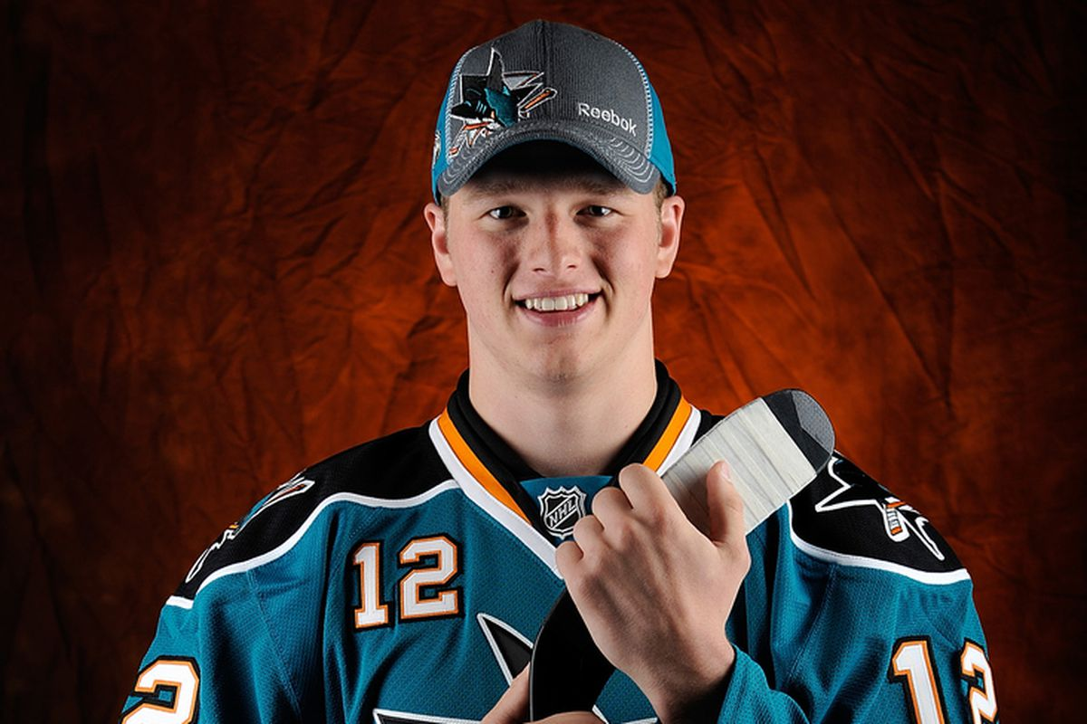 Cliff Watson after being selected by the San Jose Sharks at the 2012 NHL Draft