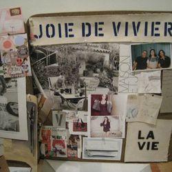 Clare Vivier's studio pinboard