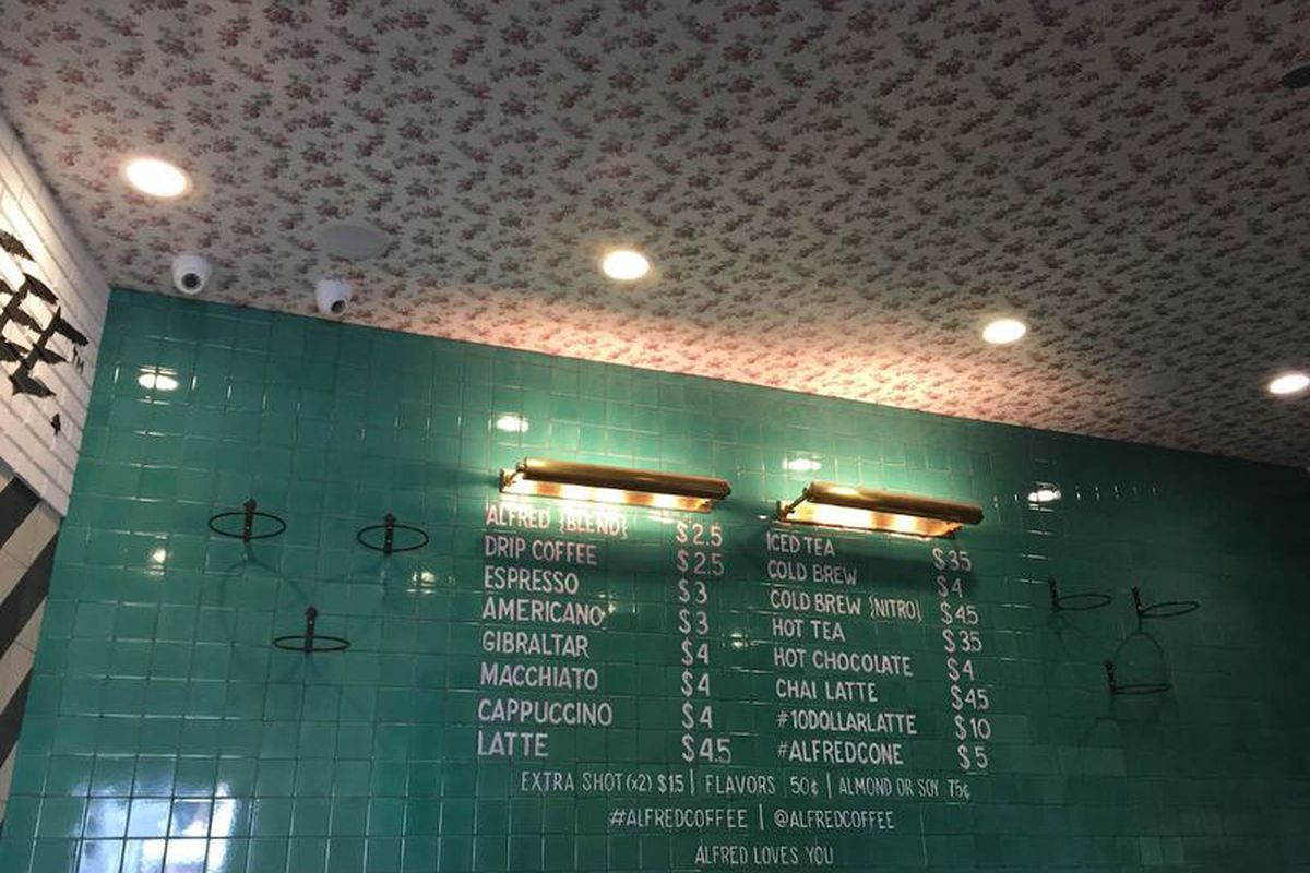 """Photo: <a href=""""http://la.eater.com/2015/2/16/8048745/alfred-coffee-brentwood-sneak-peek-upcoming-photos"""">Eater LA</a>"""