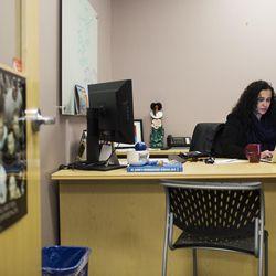 Raisa Carrasco-Velez, director of Multicultural Affairs & Community Development at St. John's Preparatory, works in her office at the school in Danvers, Massachusetts on March 13, 2017.