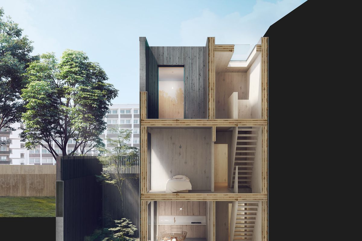 Rendering of multi-story home