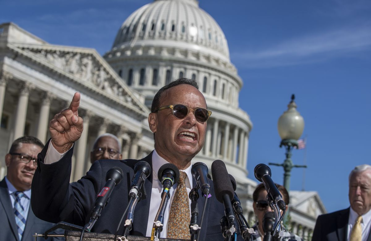 """Rep. Luis Gutierrez, D-Ill., a leading advocate in the House for immigration reform, joined supporters of """"dreamers"""" last week when they marked the 6th anniversary of the announcement of the Deferred Action for Childhood Arrivals (DACA) program, on Capito"""