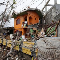 Damage is evident in Tacloban, Friday, Nov. 22, 2013.
