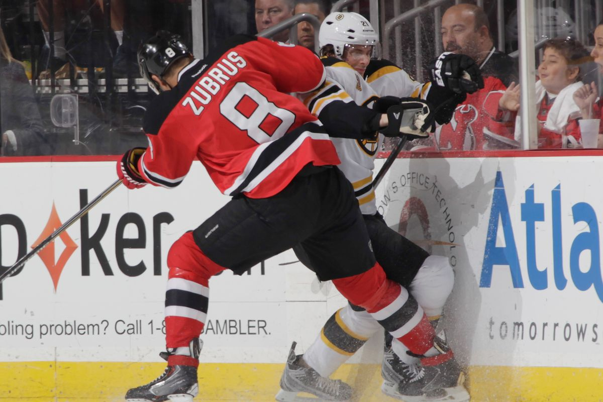 Zubrus has been all about the dumping...well at least more about it than the carrying the puck in.