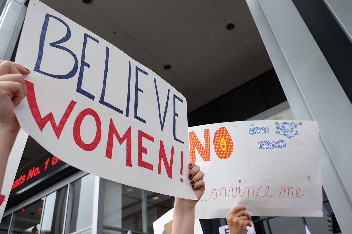 Activists Participate In The Take Back Workplace March And MeToo Survivors Rally On November 12 2017 Hollywood California
