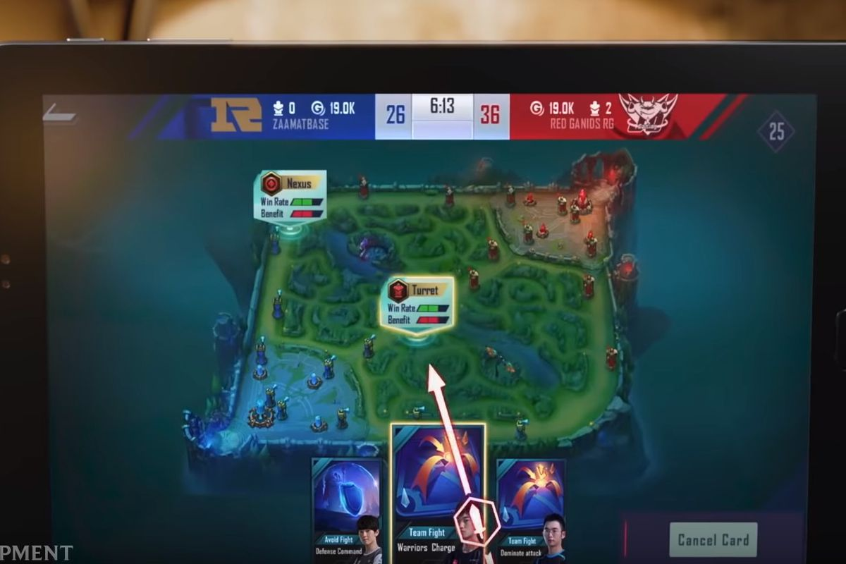 A photo of League of Legends Esports Manager running on a tablet of some kind