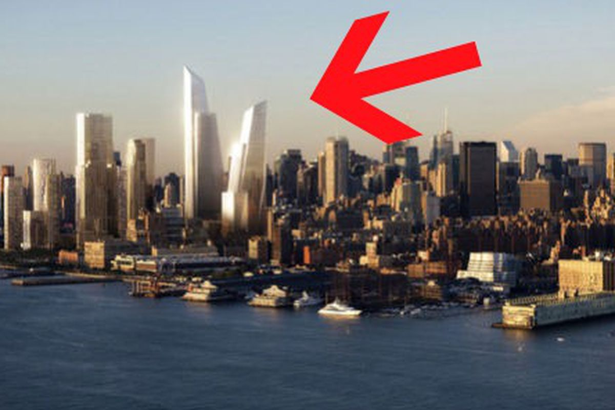"""Hudson Yards rendering via <a href=""""http://www.bloomberg.com/news/2011-11-01/related-to-start-51-story-hudson-yards-tower-for-coach-by-june.html"""">Bloomberg</a>"""