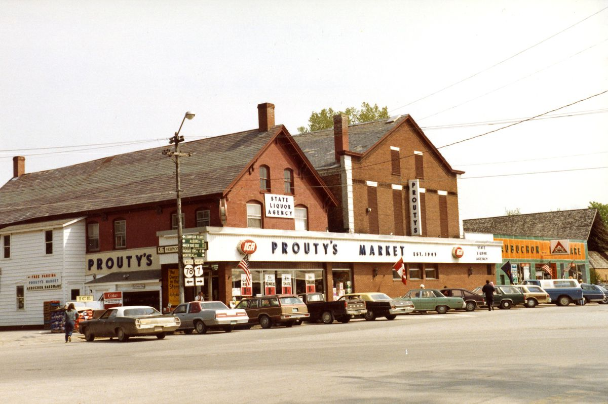 A 1981 photo of a market store in Swanton, Vermont.