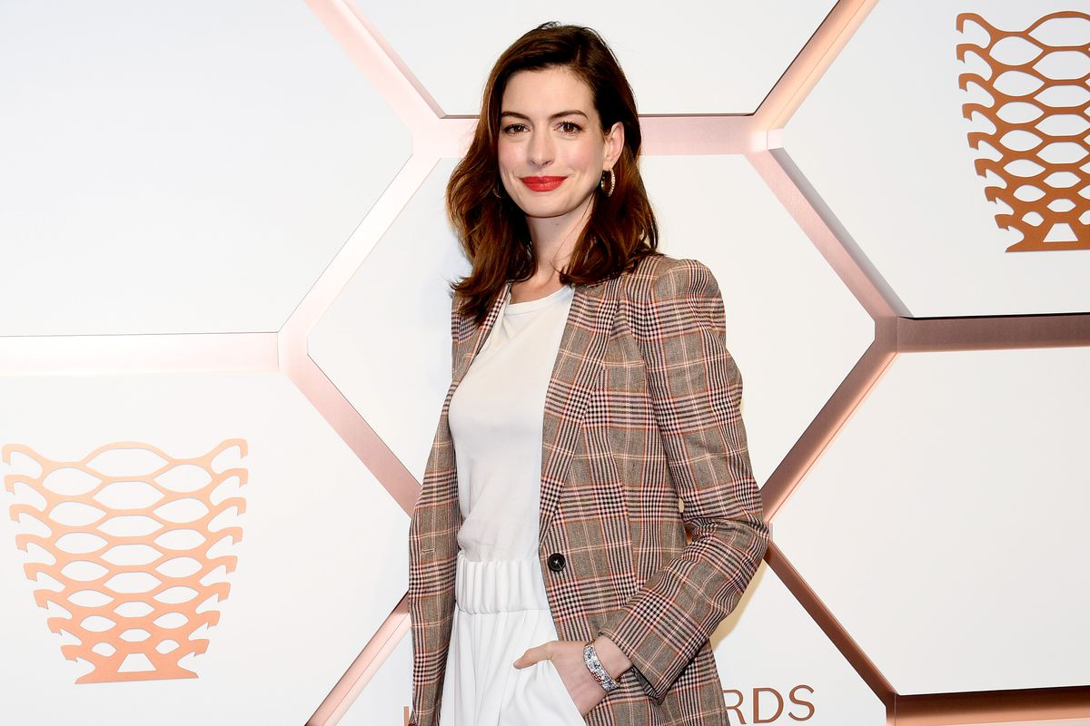 Anne Hathaway at Hudson Yards opening