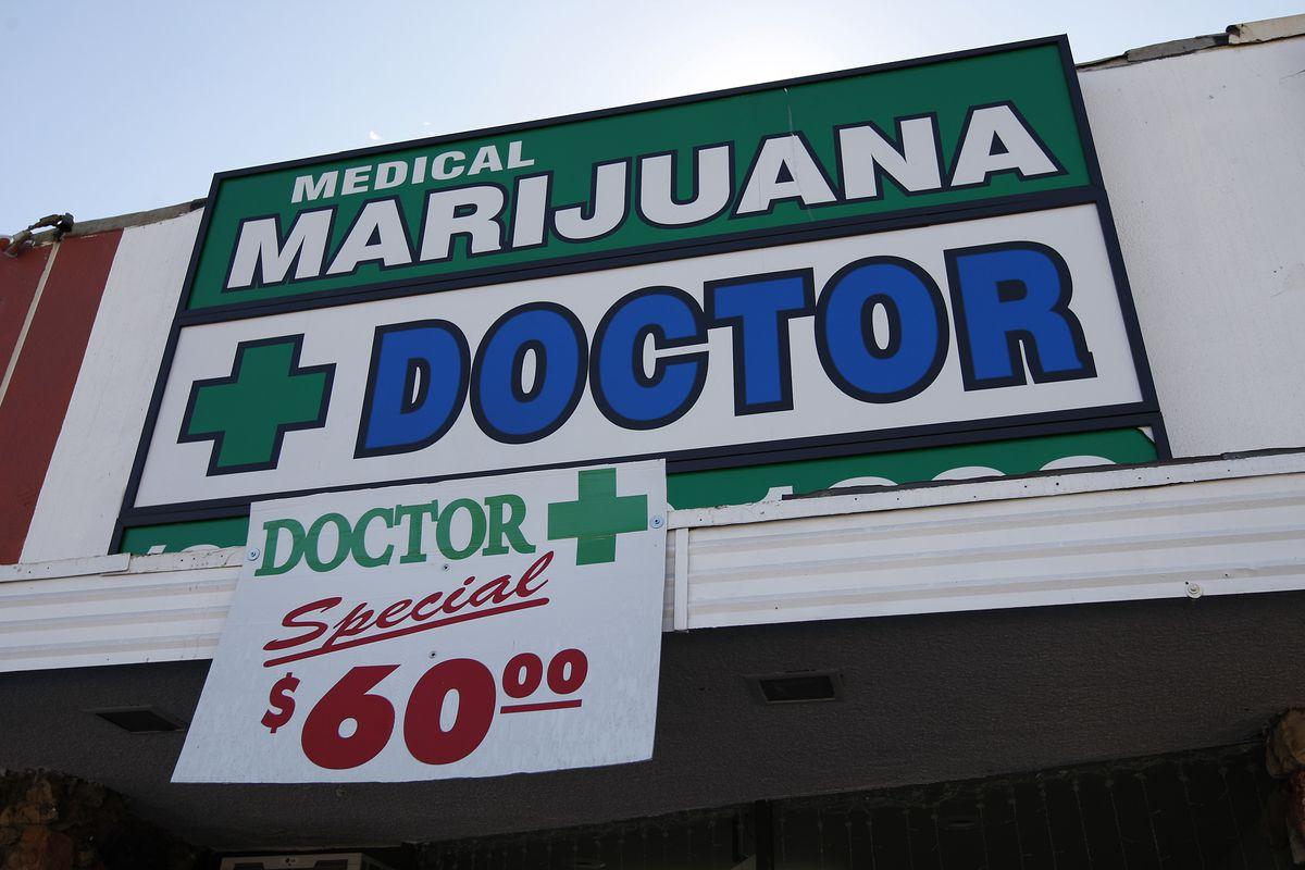 A doctor's office that prescribes medical marijuana in California.