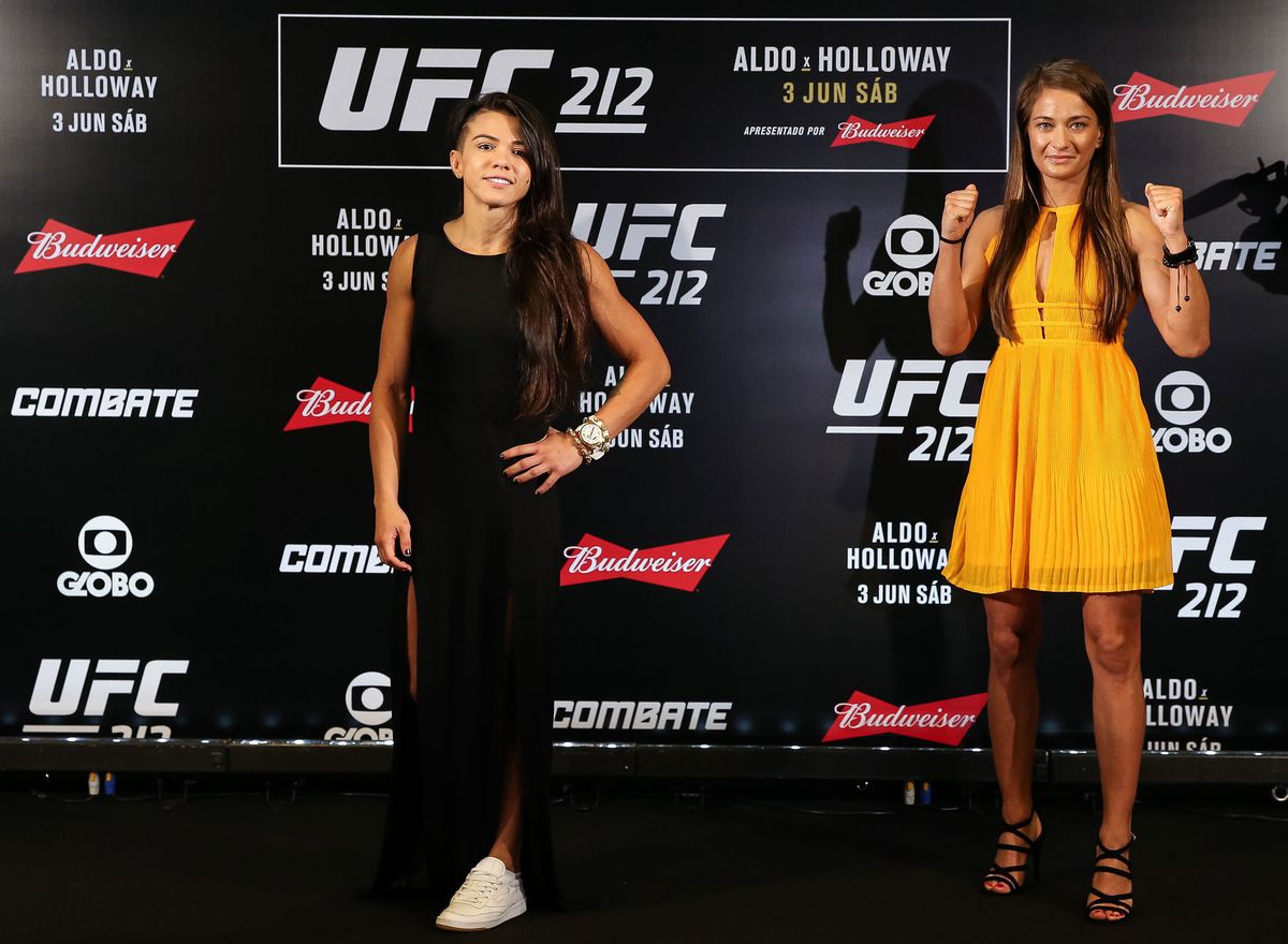 Claudia Gadelha and Karolina Kowalkiewicz will fight in the co-main event at UFC 212. (GettyImages)