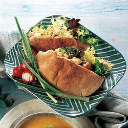 "Chicken Salad Pitas make a ""different"" healthful lunch."