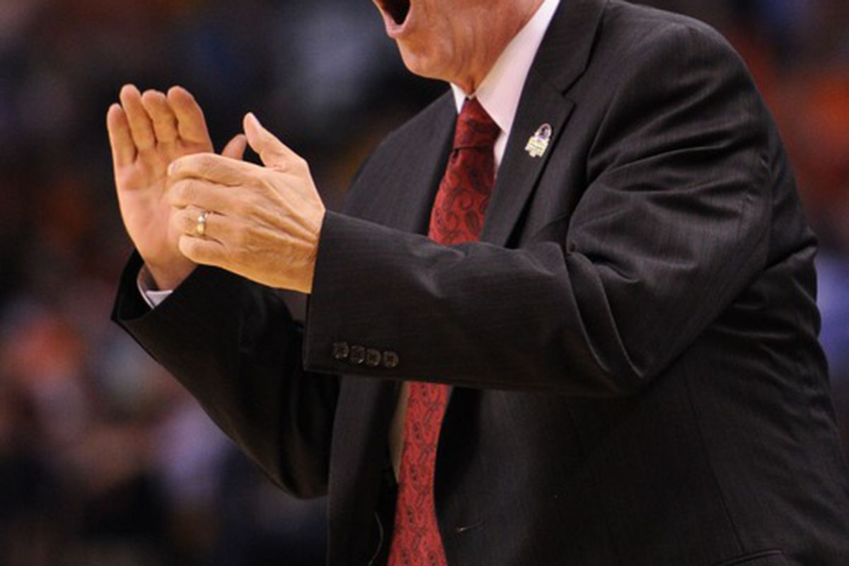 Bo Ryan is catching a lot of heat today. Mandatory Credit: Michael Ivins-US PRESSWIRE