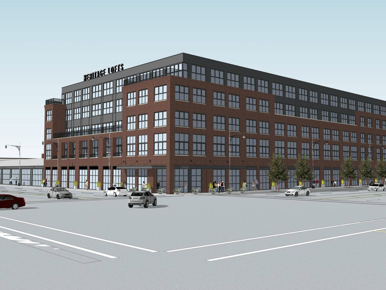 A rendering of the former Sears facility at 7152 W. North Avenue.