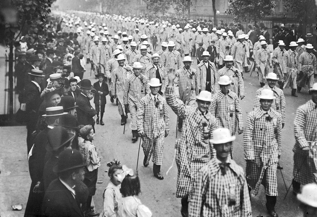 A Labor Day parade in Chicago in the 1900s