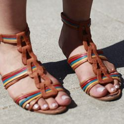 Neutral is also good with a flat rainbow sandal.