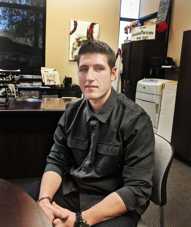 Michael Curci says his life is back on track after he got help for opioid addiction at an emergency room at the Marshall Medical Center in Placerville, California.