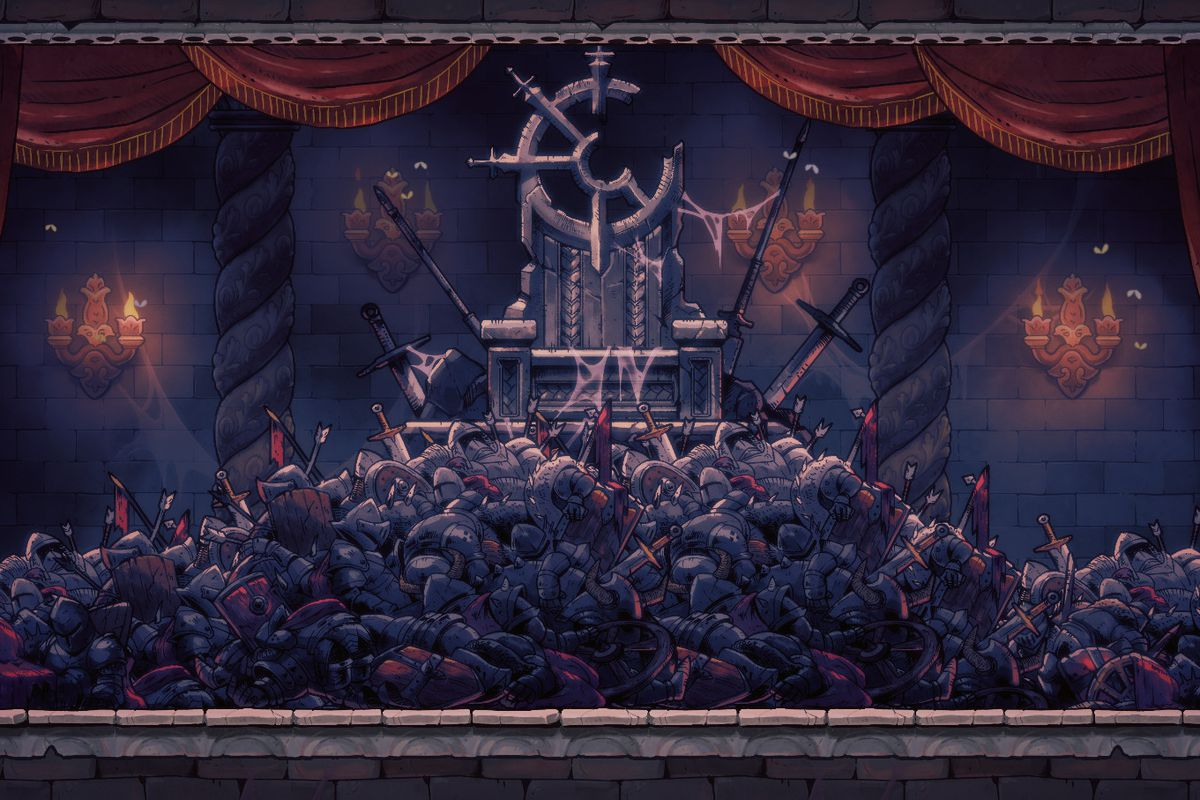 A throne room in Rogue Legacy 2