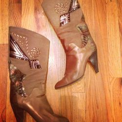 80's western-inspired brown boots: $76. Size 9.5