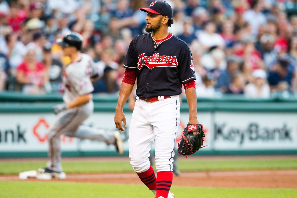 Danny Salazar returned from the DL, but was rusty to say the least.