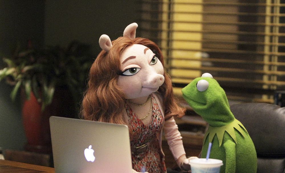 The Muppets. Kermit and Denise are in love.