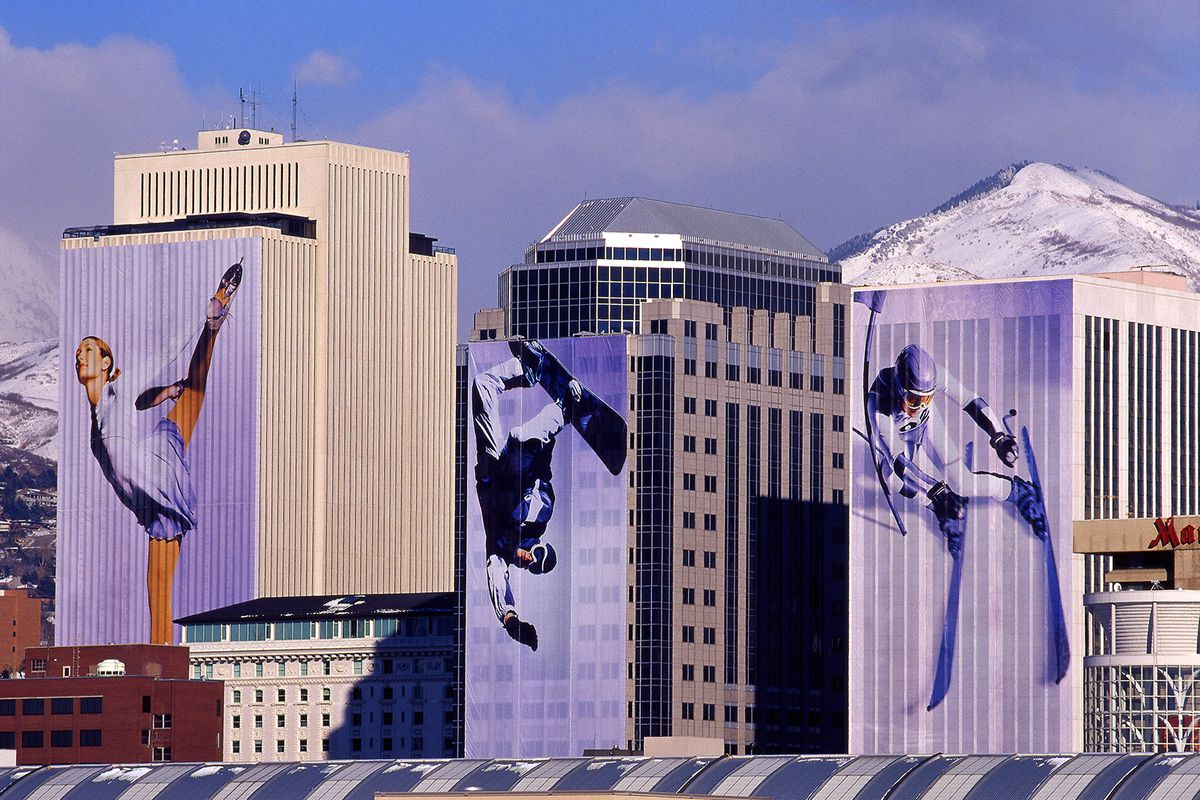 Steve Greenwood, a freelance photographer, shared this terrific pictures of Downtown Salt Lake City, as it appeared during the 2002 Olympics.
