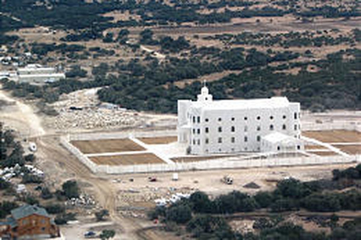 The FLDS temple stands on the church's compound near Eldorado, Texas.
