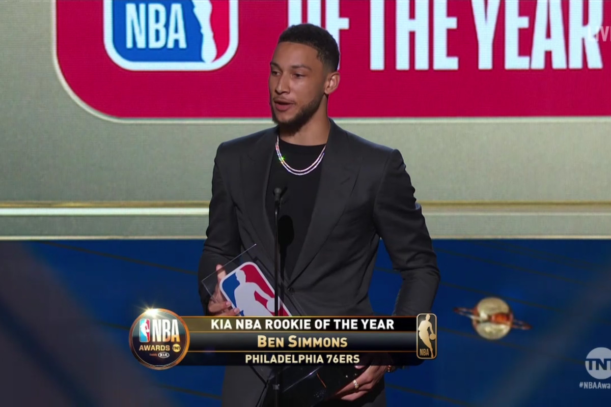 Ben Simmons Wins 2018 Nba Rookie Of The Year Sbnation Com
