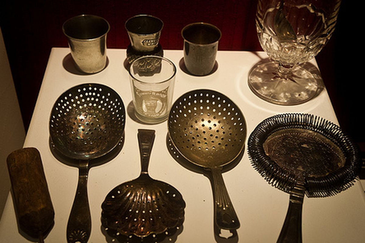 """A Display from the Museum of The American Cocktail<a href=""""http://www.flickr.com/photos/34390053@N04/sets/72157630487564944/with/7531771356/""""></a>"""