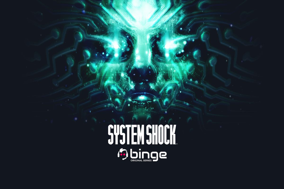 System Shock TV series key art: a poster of SHODAN.