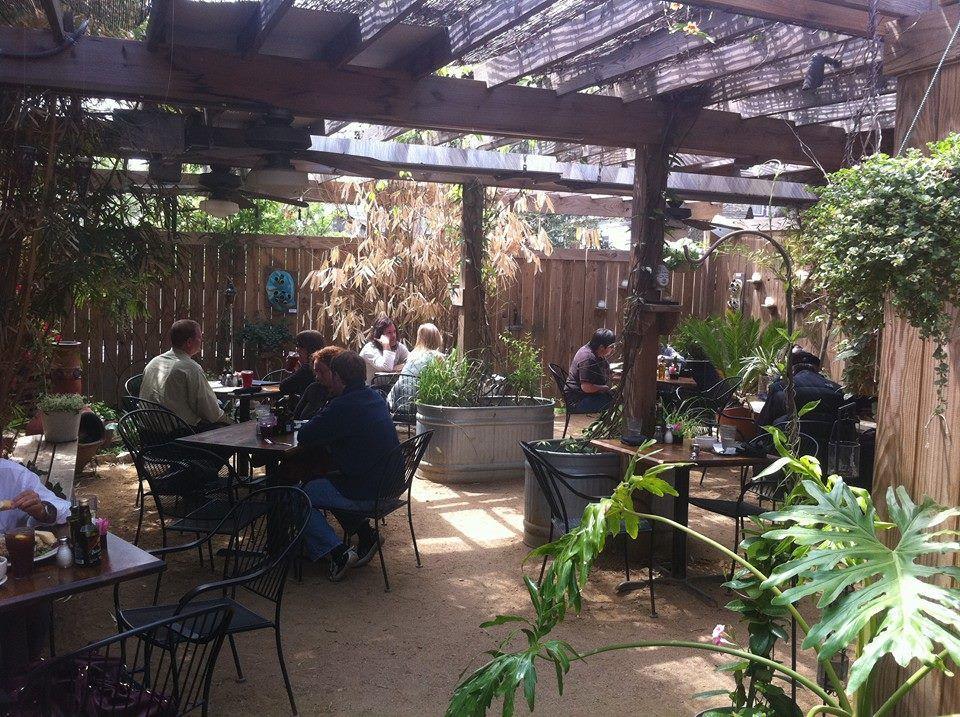 The patio at Blue Dahlia