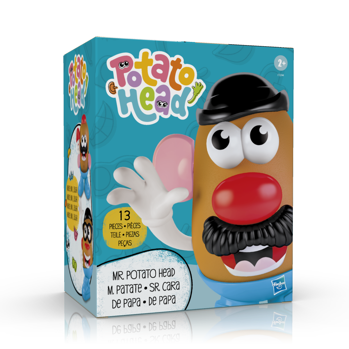 Artwork of the new Potato Head box, featuring Mr. Potato Head.