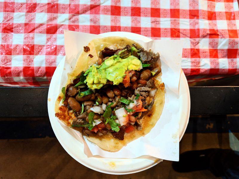 Perron taco at Tacos 1986