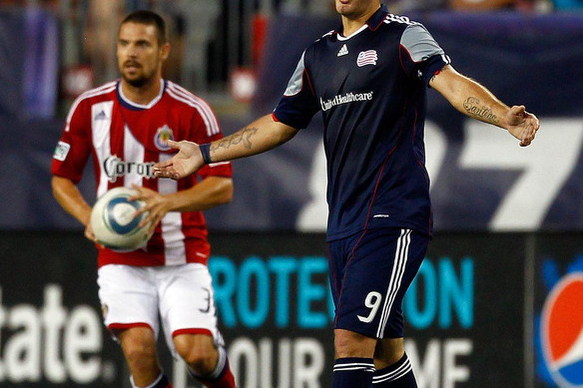 FOXBORO, MA - AUGUST 6:  Chivas gave the Revs fits in 2011 (Photo by Jim Rogash/Getty Images)